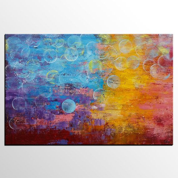 Abstract Art Large Painting Canvas Art Wall Art by Topart007