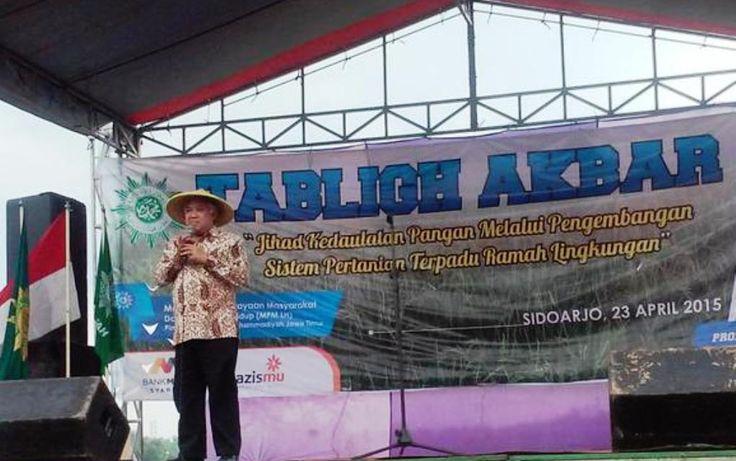 Hadiri Panen Raya Di Balongbendo Sidoarjo, Din Syamsudin : Petani Rugi Karena Rentenir