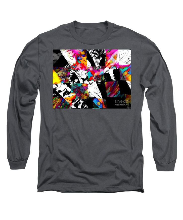 Fun Colorful Vibrant Dynamic Modern Abstract Original Artwork Created Digitally Long Sleeve T-Shirt featuring the painting Check Me Out by Expressionistart studio Priscilla Batzell