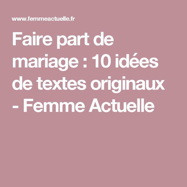 17 meilleures id es propos de texte faire part mariage sur pinterest remerciement mariage. Black Bedroom Furniture Sets. Home Design Ideas