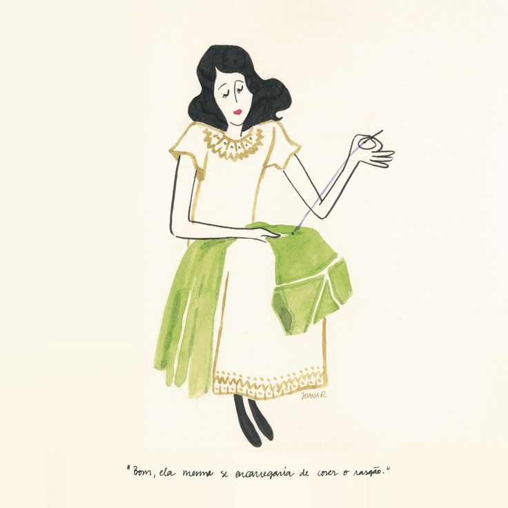 """""""By artificial light the green shone, but lost its colour now in the sun. She would mend it. Her maids had too much to do."""" Mrs. Dalloway is this month's book up for discussion at our book club. And today is Virginia Woolf's birthday. Illustration by Joana Ray  #illustration #watercolor #virginiawoolf #mrsdalloway #bookclub #clubleituraalcobaca"""