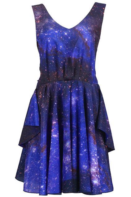 Galaxy Print Dress