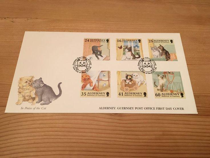 ALDERNEY FDC 1996 CATS ANIMALS CV £8