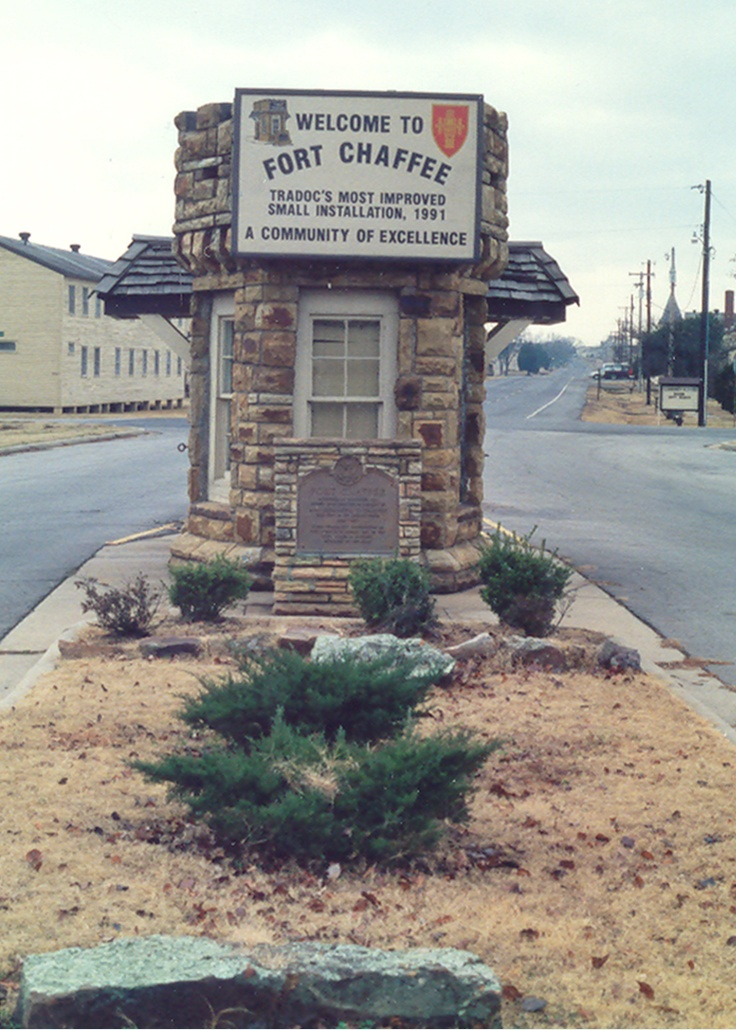 Chaffee adjacent to fort smith arkansas no longer a military base