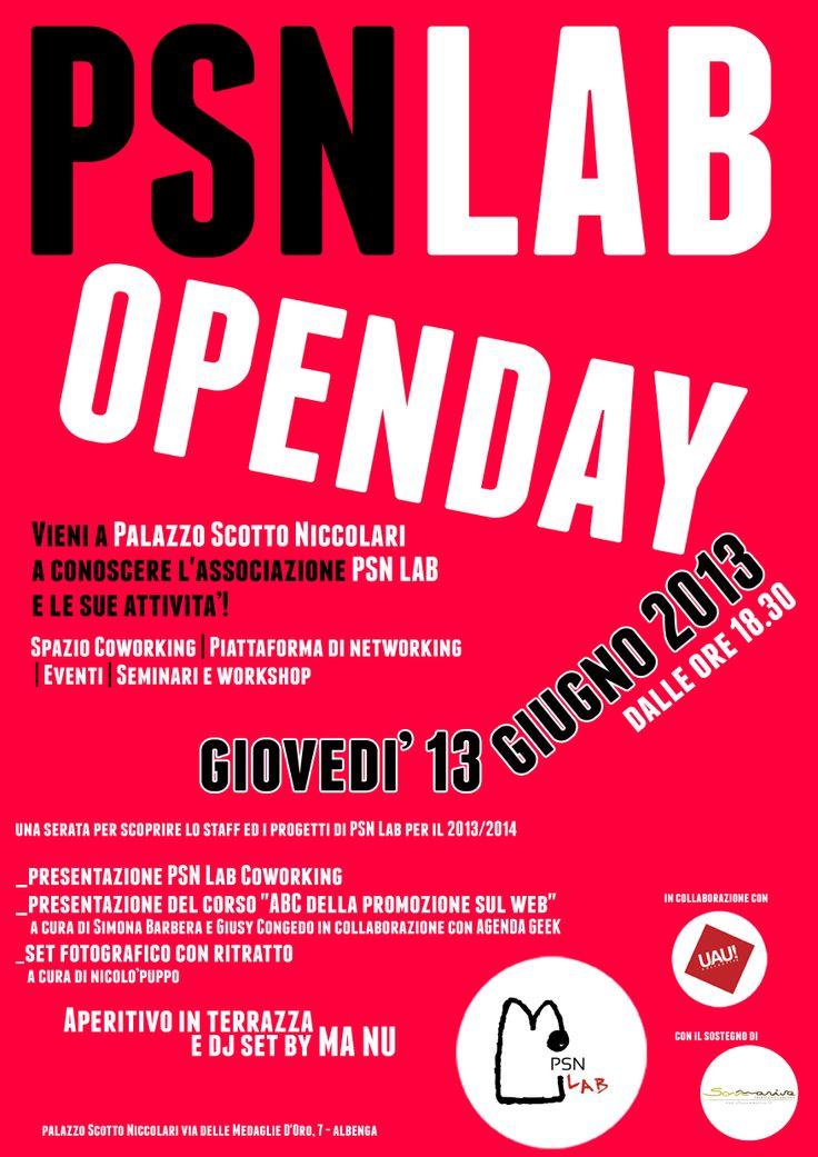"""grafica e organizzazione """"PSN LAB OPEN DAY"""" - aperitivo di presentazione associazione PSNLAB #Albenga #visitriviera"""