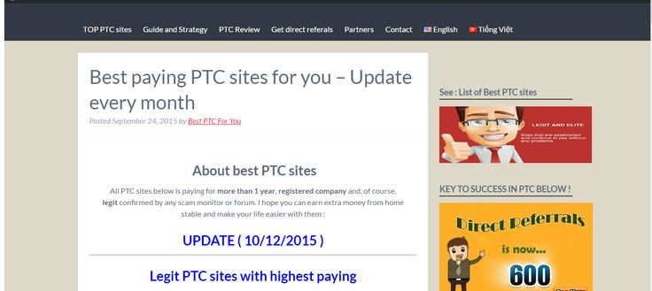 This is the list of best paying PTC sites for you
