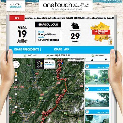 Aujourd'hui les coureurs restent dans les Alpes pour l'étape du jour : Bourg d'Oisans / Le Grand-Bornand. Suivez en direct l'avancement de la caravane ALCATEL ONE TOUCH sur le #tdf ! La Team ALCATEL ONE TOUCH vous attend très nombreux ! http://www.facebook.com/letourenonetouch/app_151320008388247 #ONETOUCH ;-)