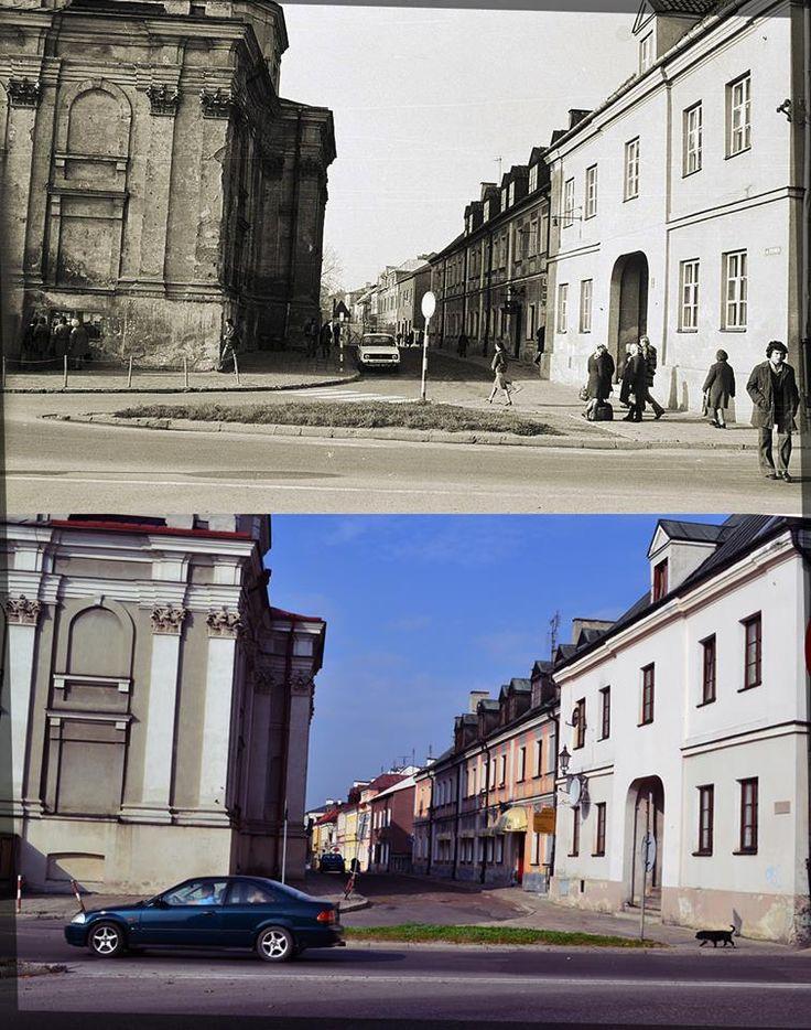 Ulica Staszica, ok. 1980 r. Autor zdjęcia na górze: Mirosław Chmiel