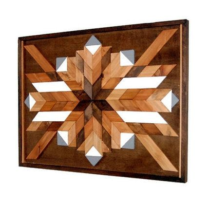 Southwestern Art Abstract Wall Art Navajo Wood by LakefrontWoods