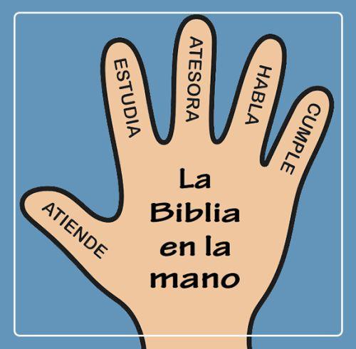 La Biblia en la mano                                                                                                                                                                                 Más