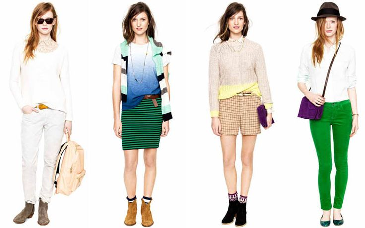 green stripe pencil skirt: love.