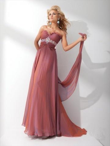Sheath / Column Sweetheart  Beading  Sleeveless Floor-length Chiffon Prom Dress / Evening Dress