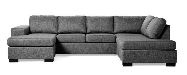 Produktbild - Nevada, 3-sits soffa, schäslong vänster och divan höger