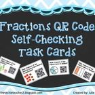 This is a set of 24 fraction QR Code task cards. Download a FREE QR scanner app to any SMART device and have your students solve and then scan the ...