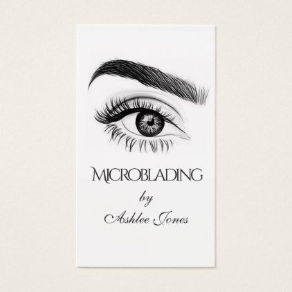 microblading eyebrows tattoo permanent makeup business card makeup artist gifts style stylish. Black Bedroom Furniture Sets. Home Design Ideas