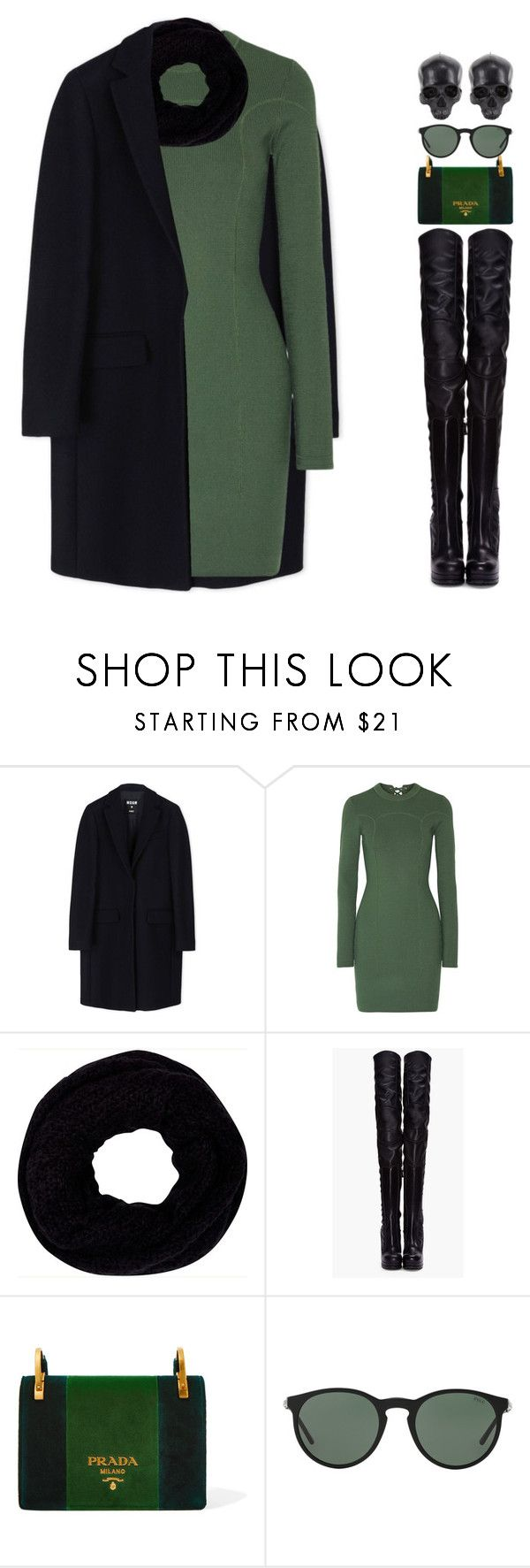 """""""6323"""" by tiffanyelinor ❤ liked on Polyvore featuring MSGM, 3.1 Phillip Lim, River Island, Versus, Prada, Polo Ralph Lauren and D.L. & Co."""