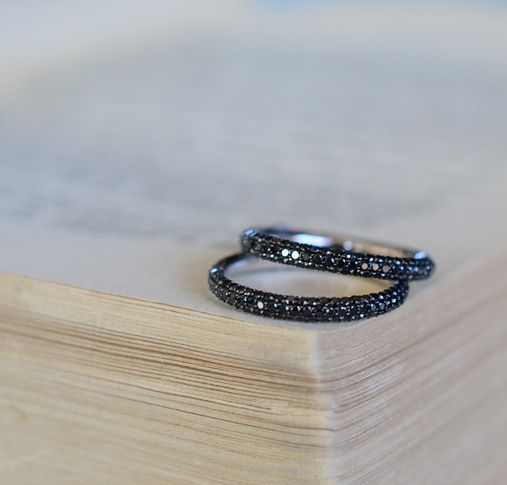 Black diamond rings, absolutely gorgeous