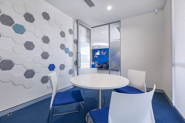WEB chairs (Project: St Vincent De Paul society office fit-out by Burgtec) #meetingroom #furniture #perth #blue #chair