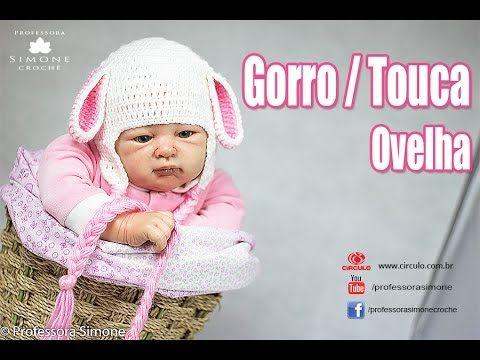 Sapatinhos Para Bebê - Life Baby: Gorro / Touca de Crochê Ovelha - Passo a Passo - Professora Simone