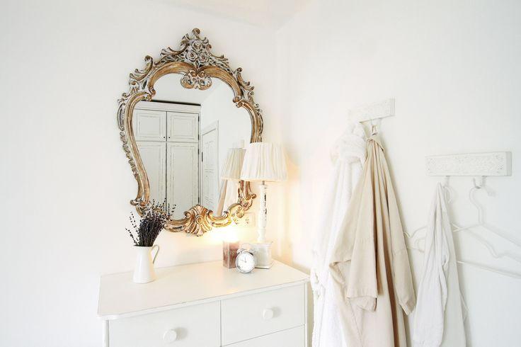 White Scandinavian interior.
