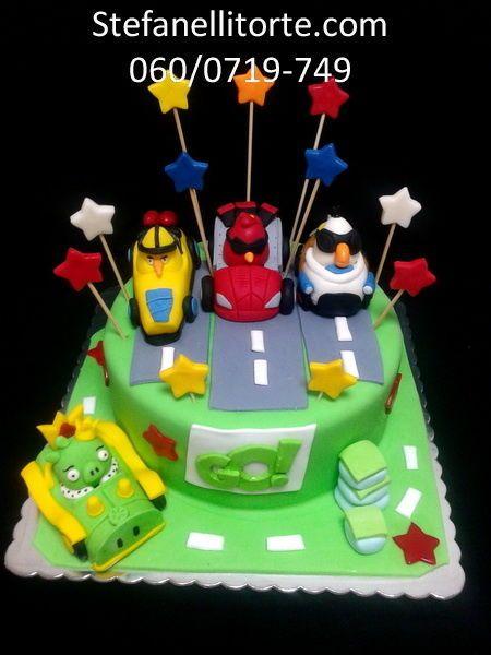 Angry birds go cake