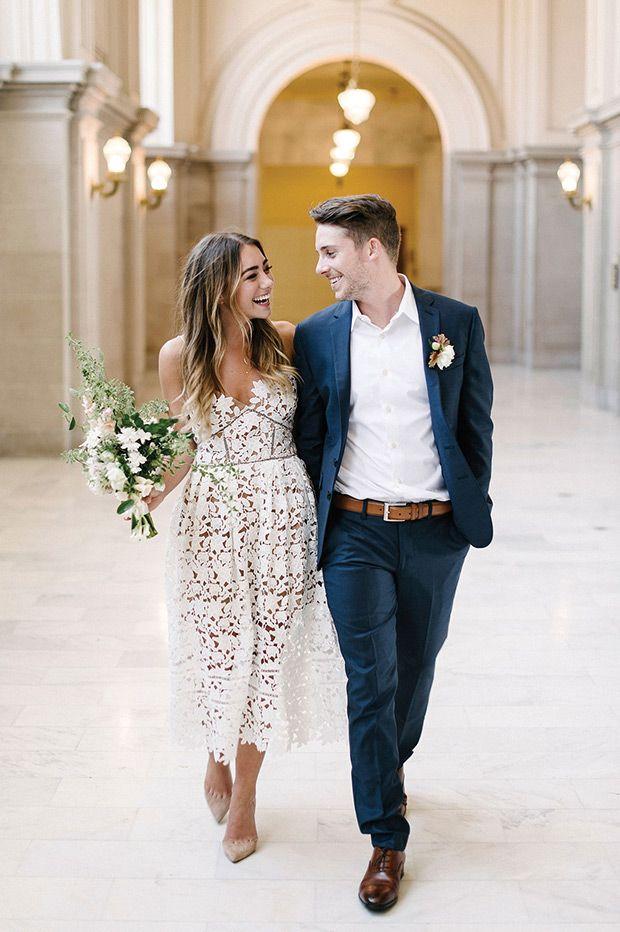 Civil Wedding Ceremony // www.onefabday.com