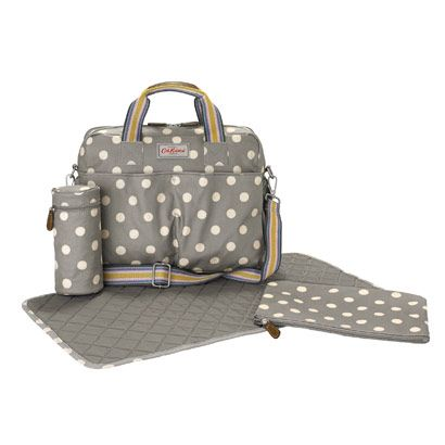 Button Spot Premium Double Pocket Nappy Bag