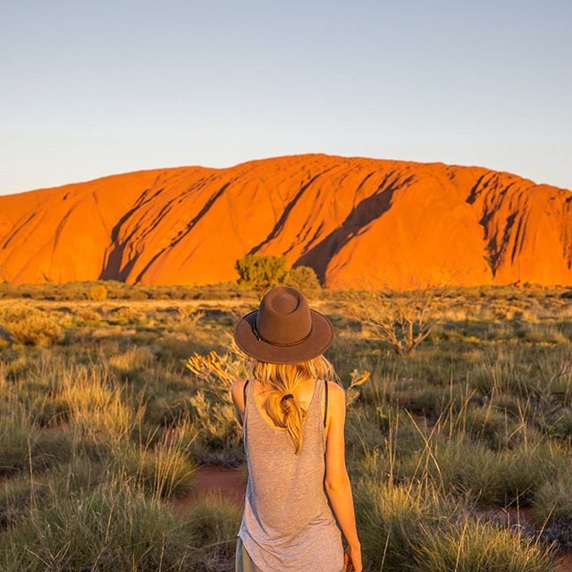 In the ❤ of Australia.  #australia #busemprzezswiat #roadtrip #sunset #uluru #evening #openmyworld #travel #adventure #aboriginal #outback #desert #rock #peace
