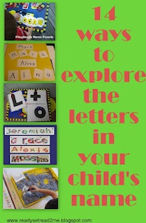Learning the letters in your name is an important skill. Generally, some of the first letters a child will learn are the letters in his own name.