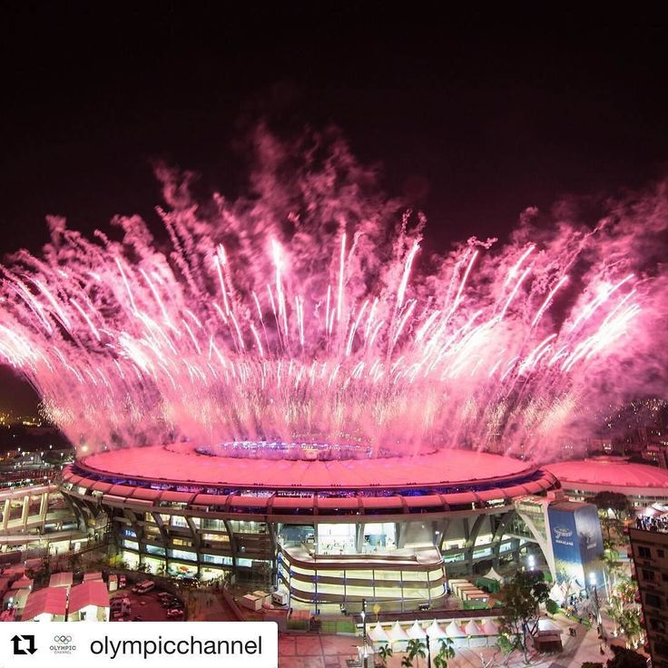 #Repost @olympicchannel with @repostapp  Fireworks explode over the Maracana Stadium during the opening ceremony of the #Rio2016 #OlympicGames