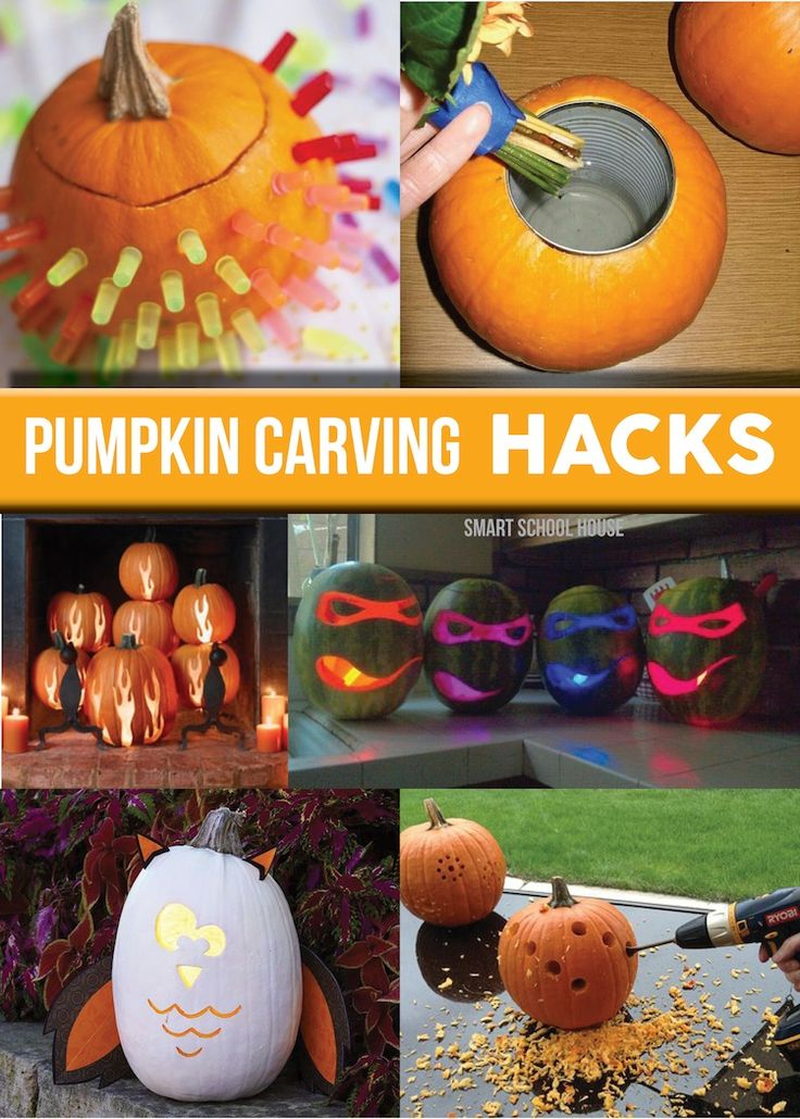 Pumpkin Carving Hacks! So many fun ideas to try on your pumpkins this year!