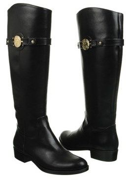 $35 >> Tommy Hilfiger Women's Dabian Riding Boot - Update your preppy ensemble with the Tommy Hilfiger Dabian riding boots.      Faux leather upper in a knee-high riding boot style     Round toe