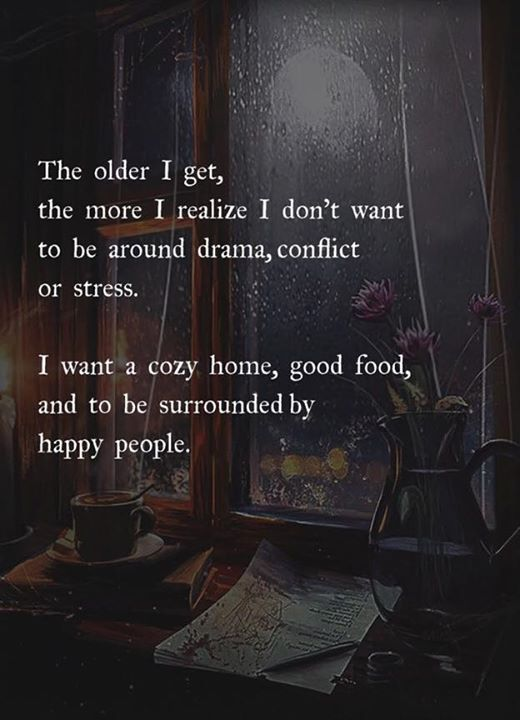 The older I get the more I realize I dont want to …