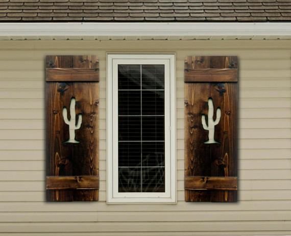 Southwestern decor, wood shutters, interior shutters or exterior shutters, or simply wall decor for your home by BlueFrogWoodworking
