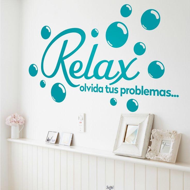 Vinilo decorativo Relax, olvida tus problemas