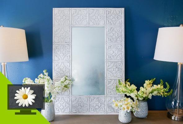 DIY Mediterranean Mirror  Visit Home Made Simple at www.pgeveryday.com
