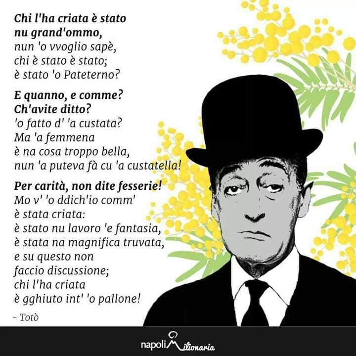 Favoloso Auguri alle Donne 8 Marzo con Totò in dialetto napoletano QJ77