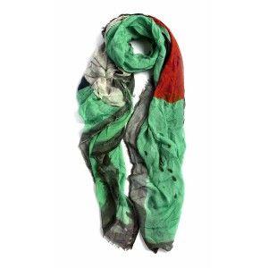 Fular Faliero Sarti verde andy warhol www.sanci.es