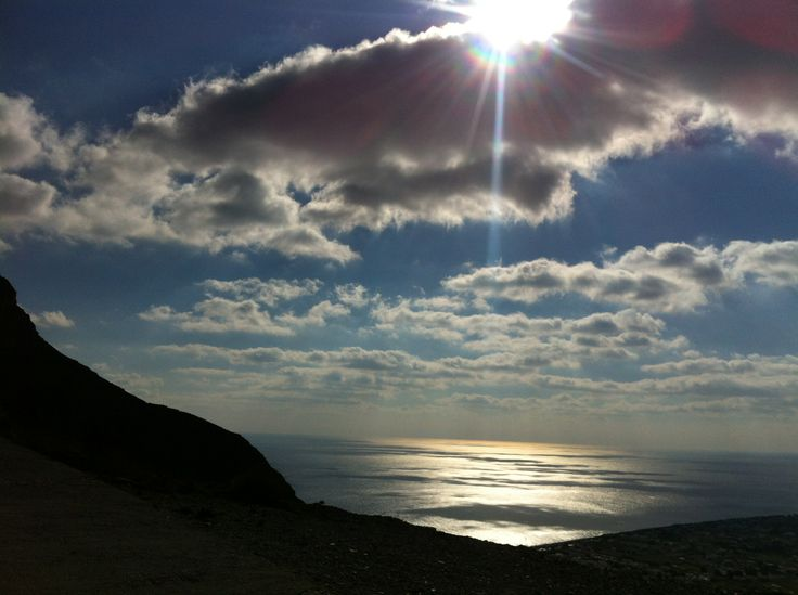 Santorini. the view in December. (Ancient Thira)
