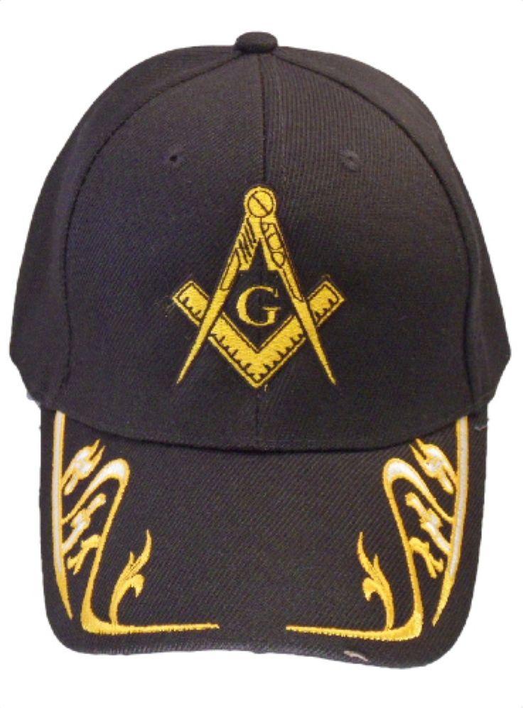 Mason Hat Black Baseball Cap with Masonic Logo Freemasons ...