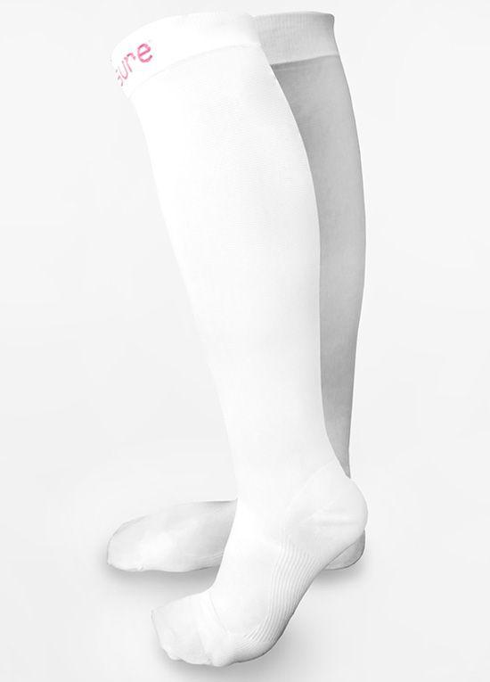 Venosure - White Graduated Compression Socks