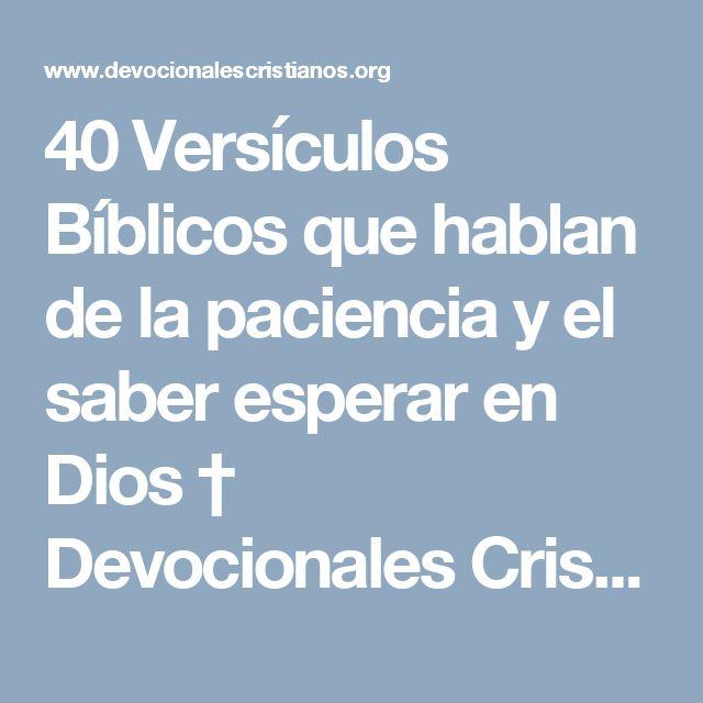 40 Versículos Bíblicos que hablan de la paciencia y el saber esperar en Dios † Devocionales Cristianos