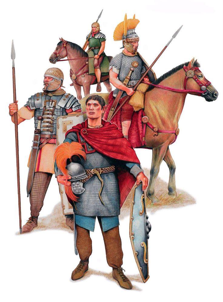 Римские солдаты в Гальской провинции.