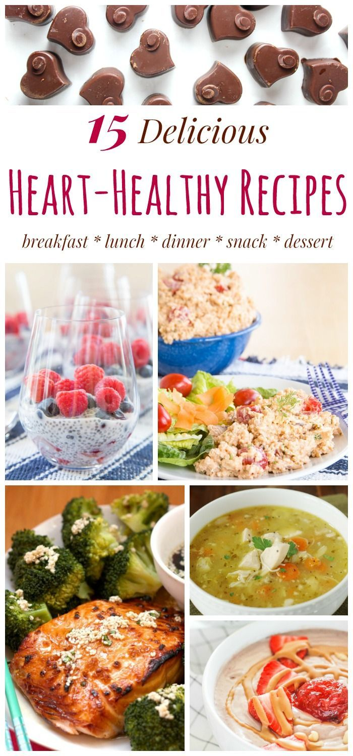 15 Delicious Heart-Healthy Recipes for breakfast, lunch, dinner, snacks, and dessert. Make a meal #FromTheHeart. #sponsored by @TheHeartTruth | cupcakesandkalechips.com