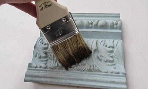 """For this tutorial, you will need a piece of furniture or trim to work on, a T-shirt rag, Amy Howard at Home One Step Paint, Amy Howard at Home Light Antique Wax, Amy Howard at Home Dark Antique Wax, Amy Howard at Home Dust of Ages, and an Amy Howard at Home 2"""" paint brush."""