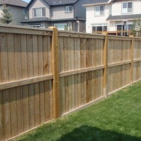 Concrete And Wood Fence Ideas