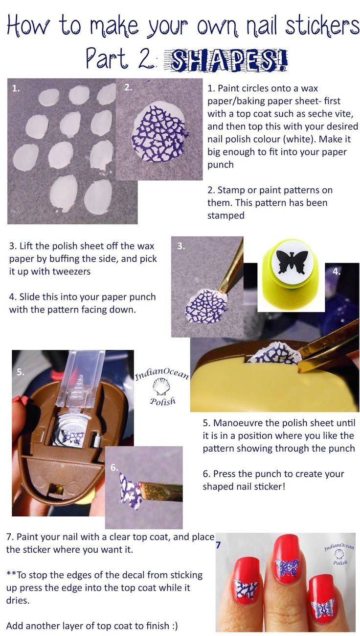 9 best homemade nail art stickers images on pinterest for How to print your own labels at home