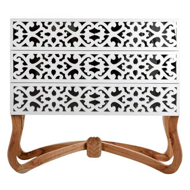 commode design blanche le grenier de juliette commode chambre pinterest commode design. Black Bedroom Furniture Sets. Home Design Ideas
