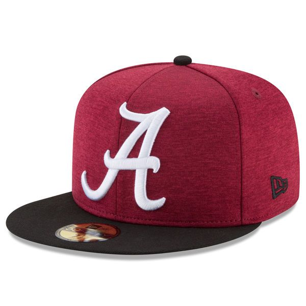 Alabama Crimson Tide New Era Heathered Huge Logo Fitted Hat - Crimson - $29.99