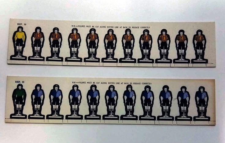 East Fife FC & Bishop Auckland FC - original cardboard Subbuteo figures